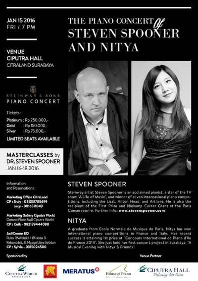 The Piano Concert of Stephen Spooner & Nitya
